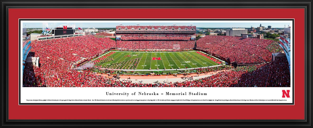 Nebraska Cornhuskers Football Panorama Memorial Stadium