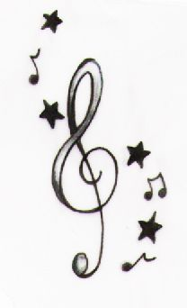 music notes and stars #musicnotes