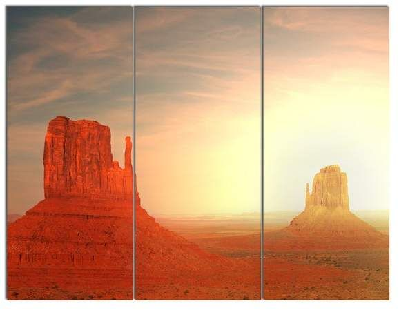 Design Art Usa  Monument Valley, Utah, USA  Metal Art, 3 Panels, 36 x28 #utahusa