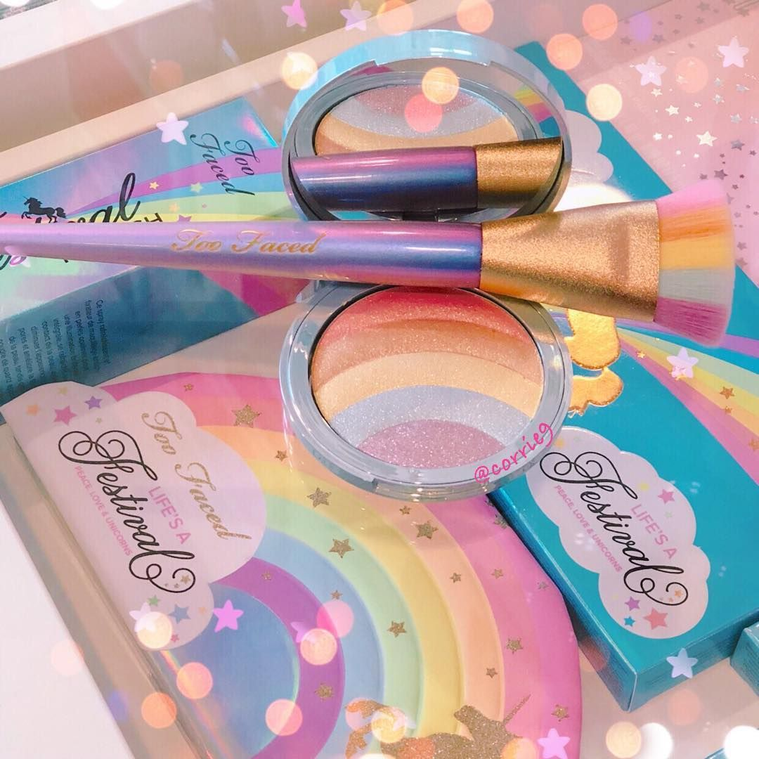 Im loving this Rainbow Highlighter and Rainbow Brush from