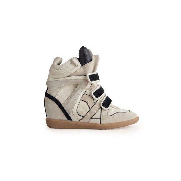 3b7b6fe79d67d0 Basket compensée Isabel Marant ❤ liked on Polyvore | - WALKING ON ...
