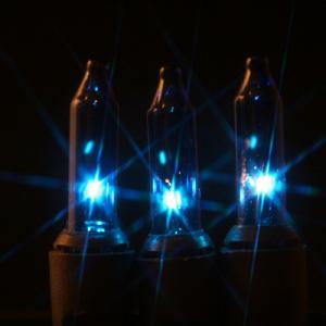 50 Blue Mini Lights on Black Wire | Light string, Blue christmas ...