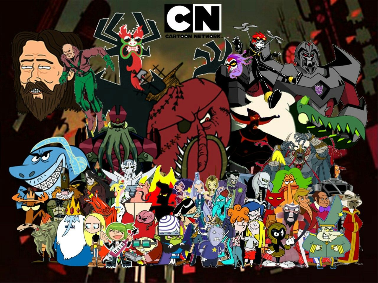 The Greatest Villains In Cn Roster Cartoon Cartoon Sketches Cartoon Crossovers