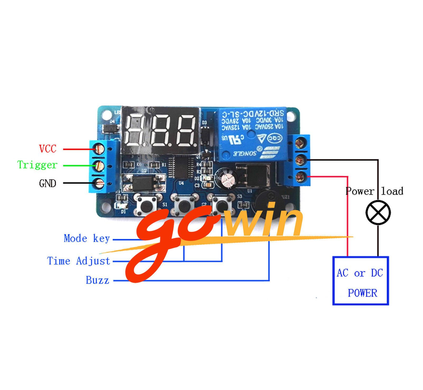 4 28 12v Programmable Timer Relay Module Delay Timer Control Switch With Led Ebay Electronics Time Timer Led Ebay