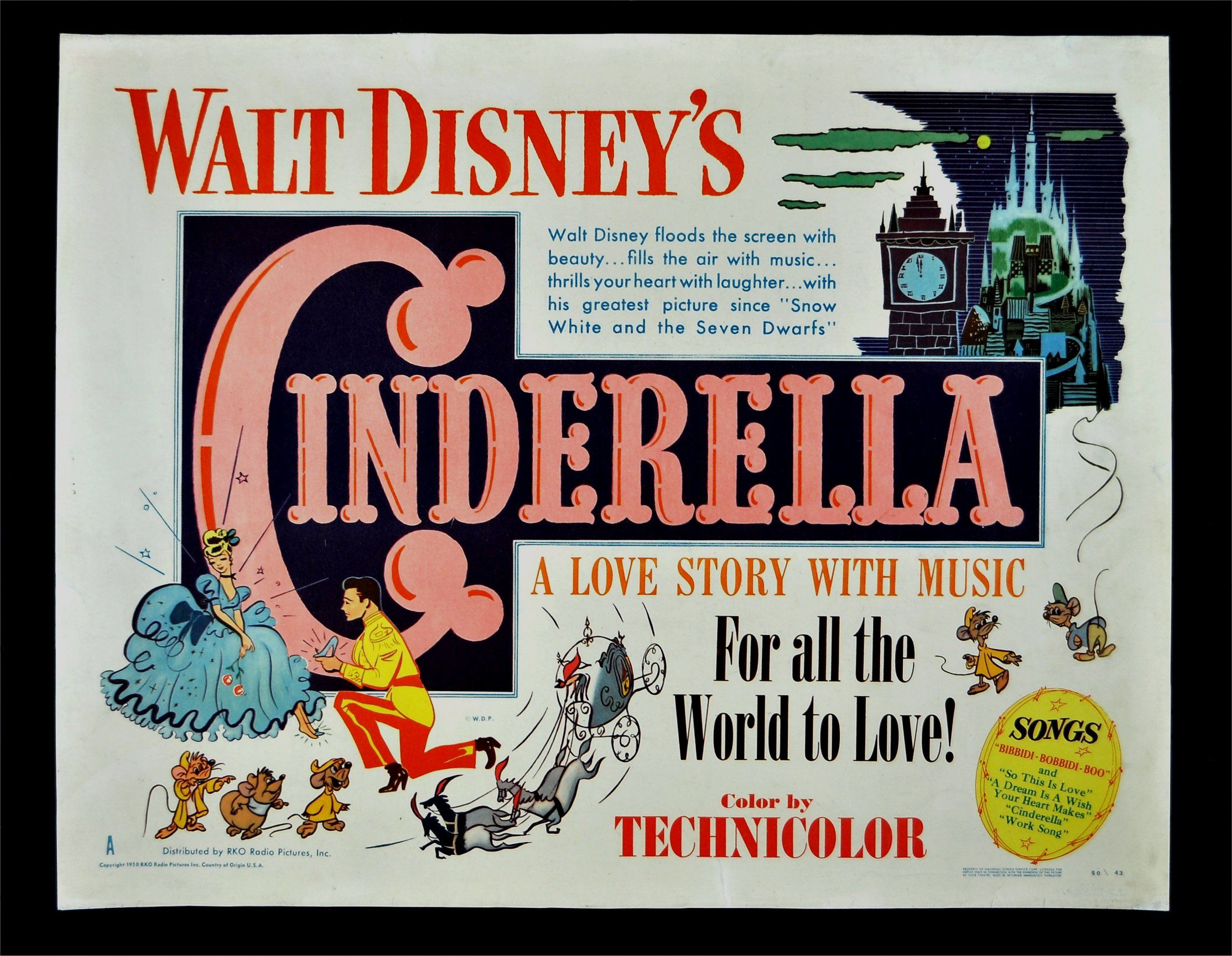 Old Disney Movie Posters Details About Cinderella Orig Movie
