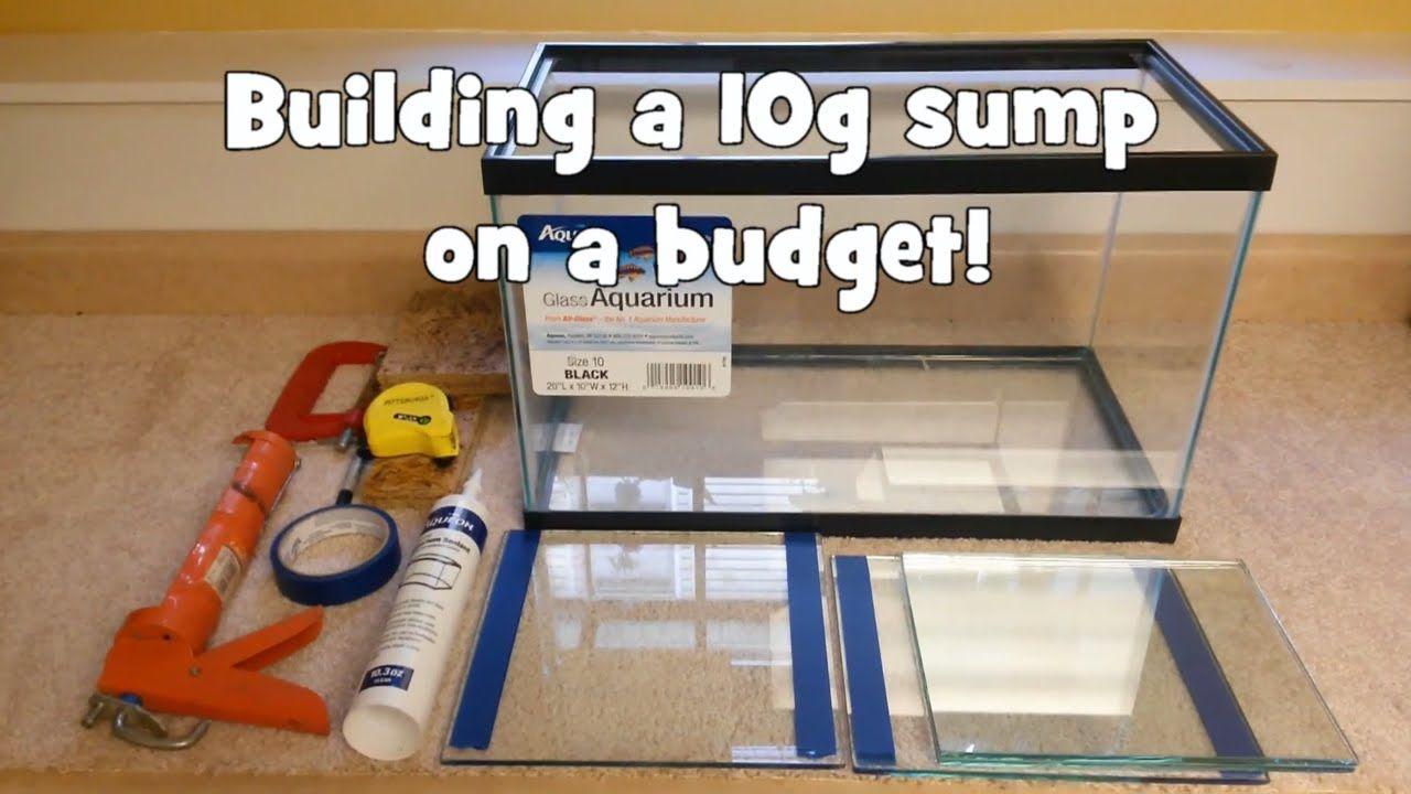 building a 10 gallon aquarium sump on a budget fish tank and