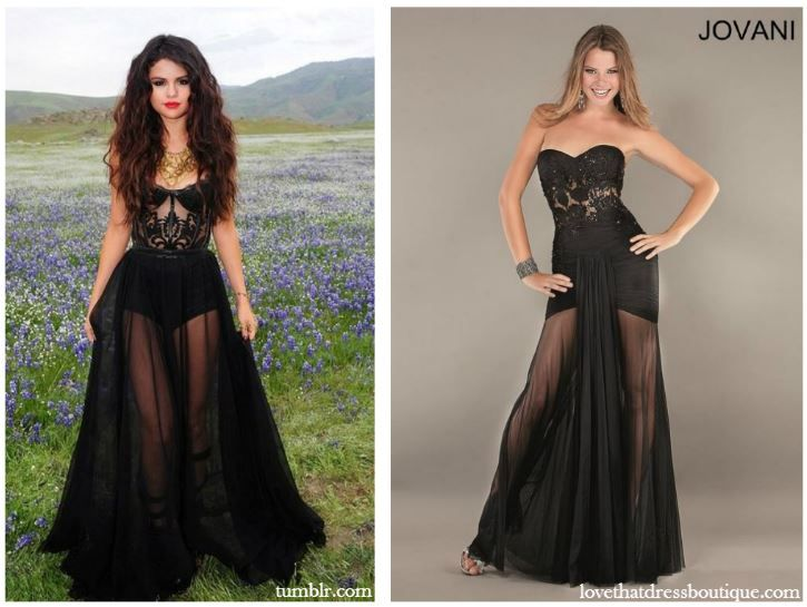 Get the Look: Selena Gomez's Black Dress from her Latest ...