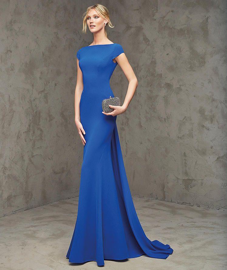 33d72f5d72e FLEUR — длинное вечернее платье синего цвета