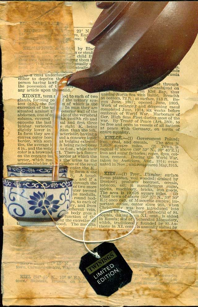 Altered Book Lover, great idea to collage your pages ~ preparing for later....