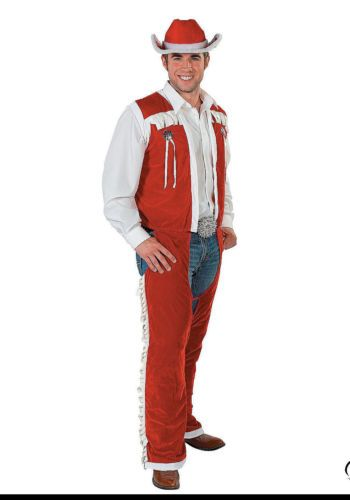 WESTERN-COWBOY-Santa-Claus-Costume-Outfit-Christmas-MENS-One-Size-M-L-XL - WESTERN COWBOY Santa Claus Costume Outfit Christmas MEN'S One Size