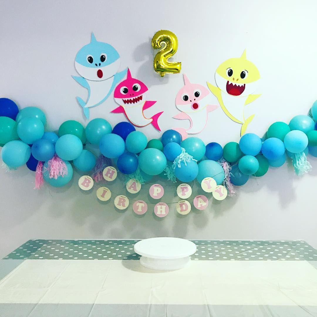 Decoracion Baby Shark Ni 241 O Baby Shark Party Ideas In
