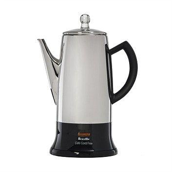 Coffee Machines & Espresso Makers - Briscoes - Breville Cmp12CRO Cafe Cordfree Percolator