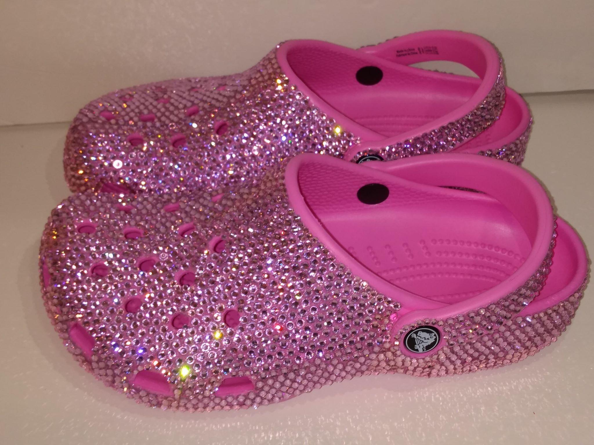 Crocs Custom Made with Crystals ,Custom