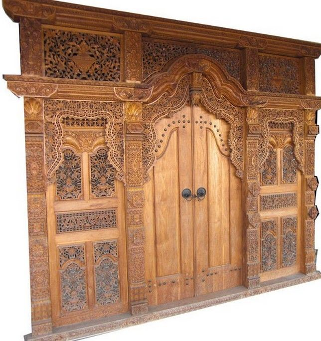 Carved Wooden Main Door Design   Interior Home Decor