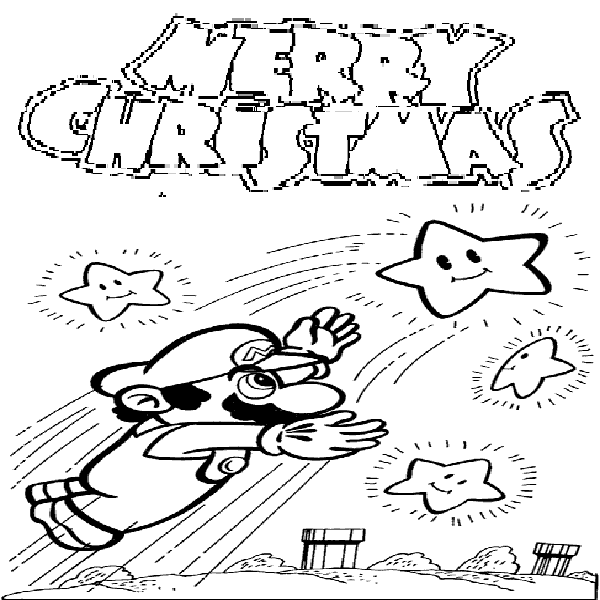 Mario Christmas Coloring Pages | Coloring Pages Trend | CHRISTMAS ...