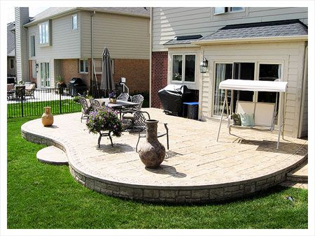 stamped concrete patio ideas | exposed aggregate concrete concrete ... - Patio Stamped Concrete Ideas