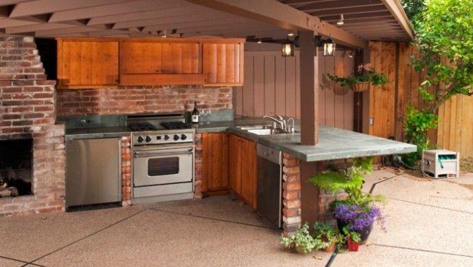 Outdoor Küche Im Wintergarten : Ideen für außenküche selber bauen beispiele für