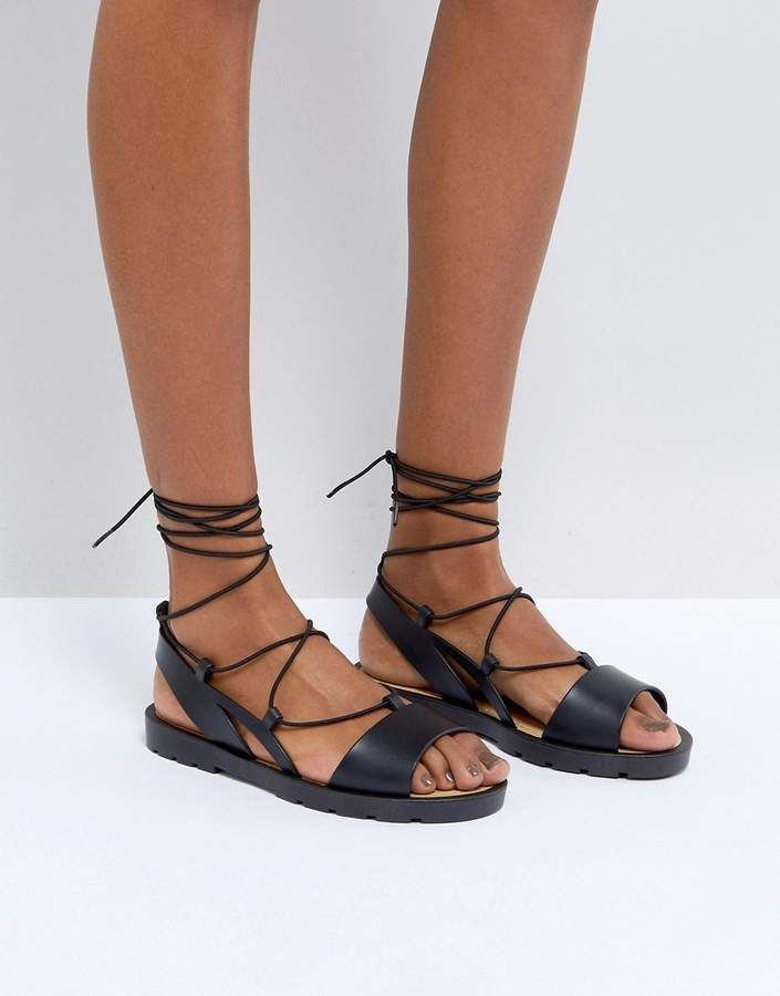 47dcf7e8d4c ASOS FIZZLE Jelly Tie Leg Sandals