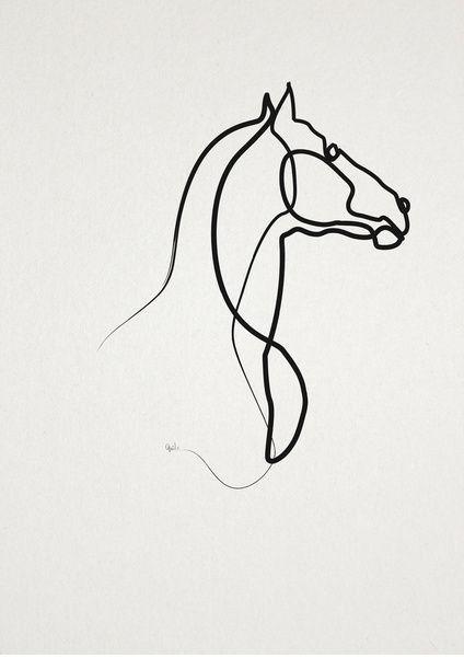 Black Line Horse Silhouette Tattoo Design Horse Tattoo Design Horse Tattoo Horse Silhouette