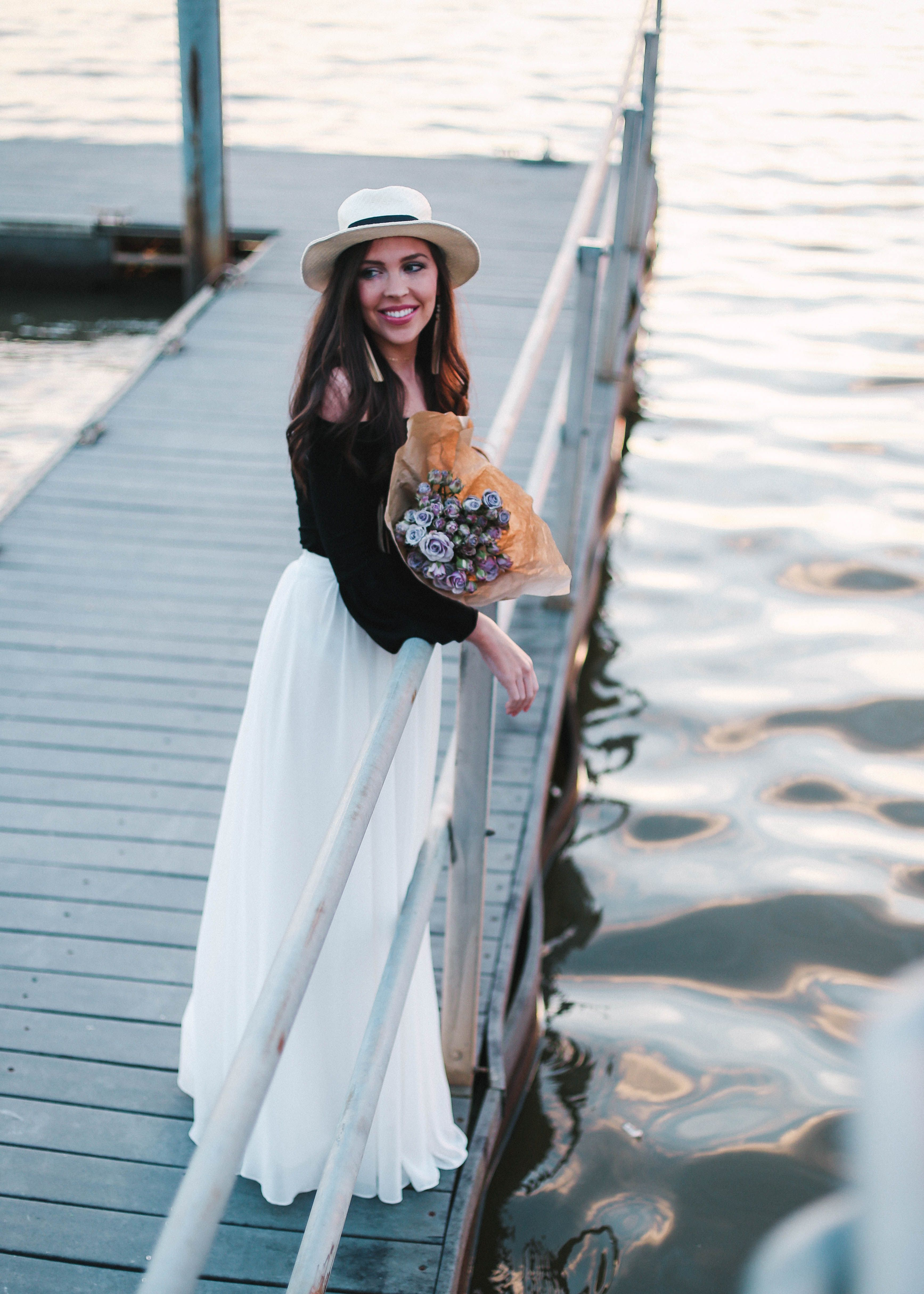 The Perfect Skirt for Any Spring Bride | White maxi skirts, White ...