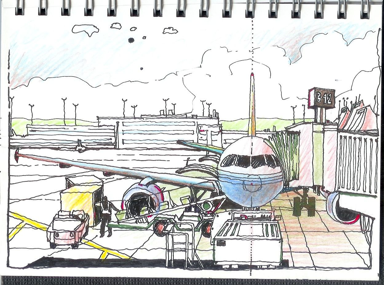 Drawing of airport google search drawing for the wall bilateral symmetry study at the denver airport terminal gate malvernweather Gallery