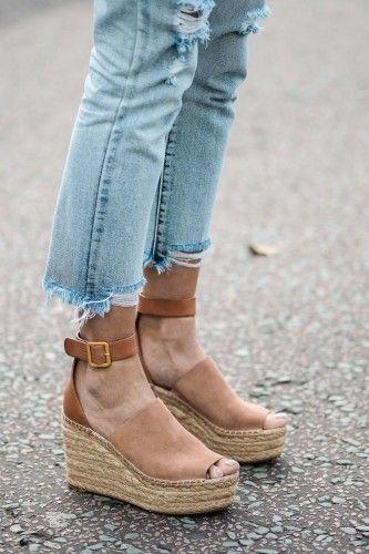 Chloé espadrille wedge sandals | Chloe wedges, Espadrilles