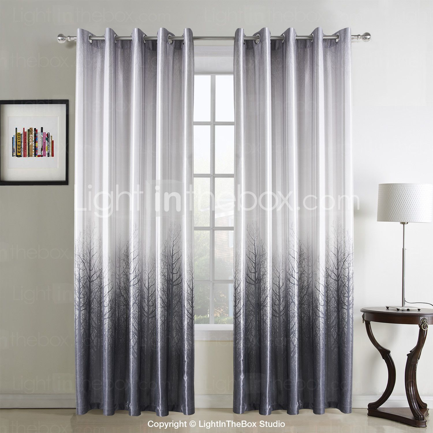 Two panels curtain country living room polyester material curtains