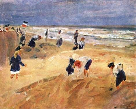 Max Liebermann, The Beach at Nordwijk on ArtStack #max-liebermann #art