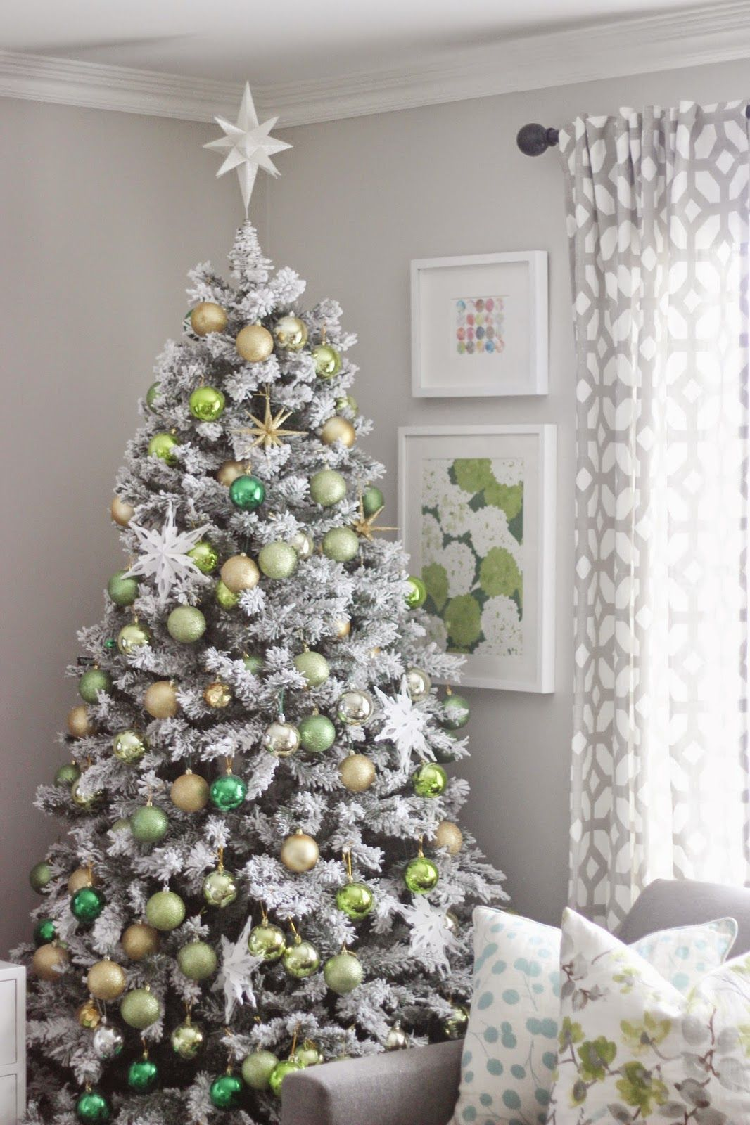 Frosty Flocked Christmas Tree Flocked christmas trees