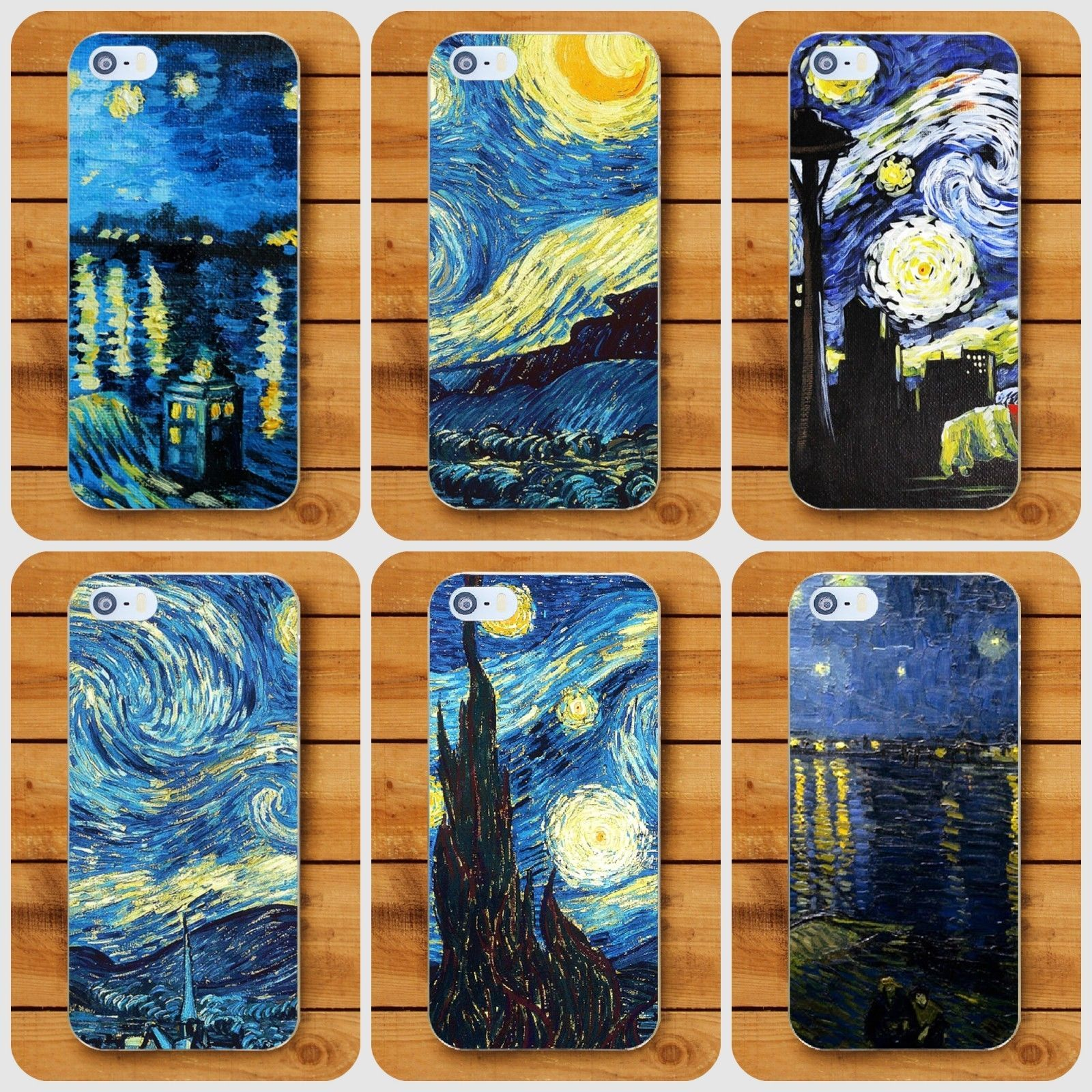 Van Gogh Starry Night pattern Cover case for Apple iPhone 6 7 8 ...
