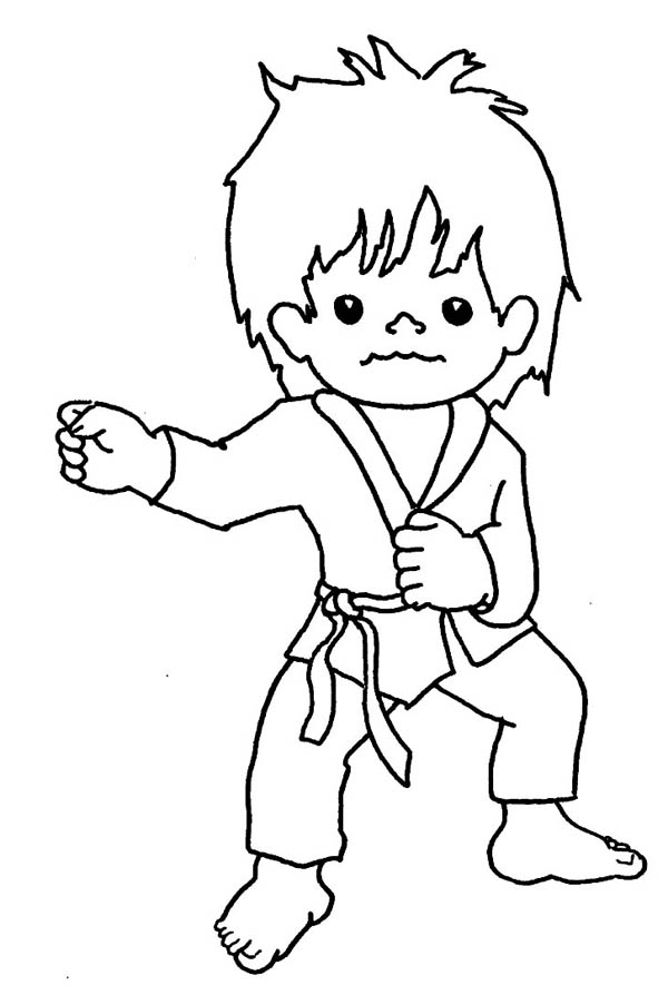 Pin On Karate Kid Coloring Page