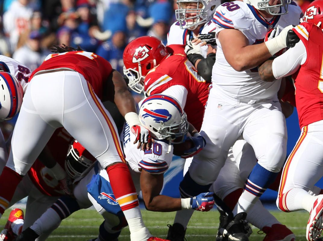 Best of NFL Week 9 - NFL: Kansas City Chiefs at Buffalo Bills -- Nov 3, 2013; Orchard Park, NY, USA; Buffalo Bills wide receiver Robert Woods (10) runs the ball during the first quarter against the Kansas City Chiefs at Ralph Wilson Stadium. (Timothy T. Ludwig-USA TODAY Sports)