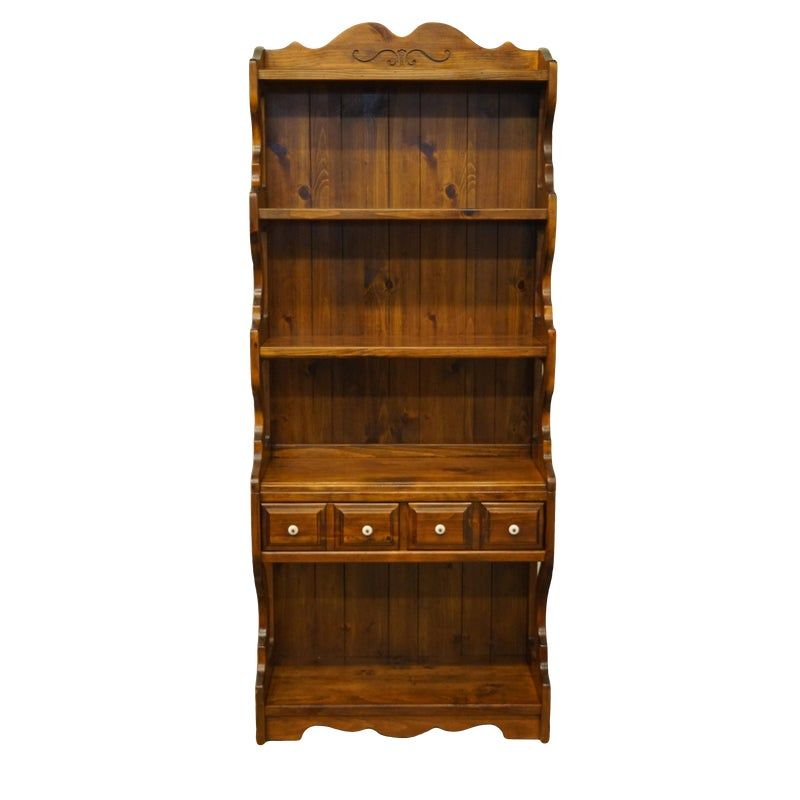20th Century Country Kling Colonial Solid Pine Wall Unit Bookshelf Pine Walls Solid Pine Bookshelves