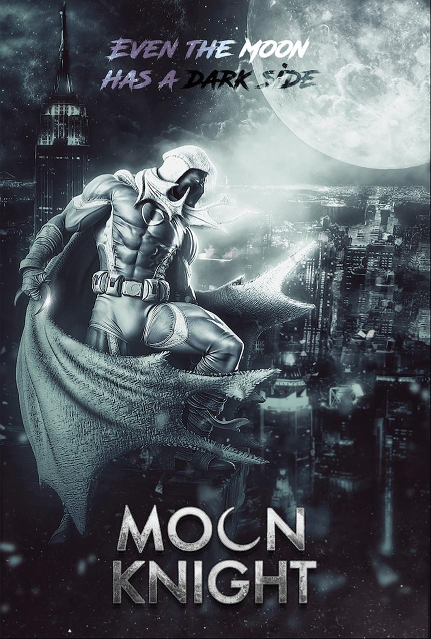 Moon Knight Film Fan Poster Marvel Moon Knight Moon Knight Marvel Knights