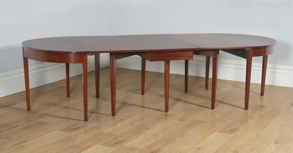 Georgian Mahogany Round Extendable Dining Table Antiques Atlas