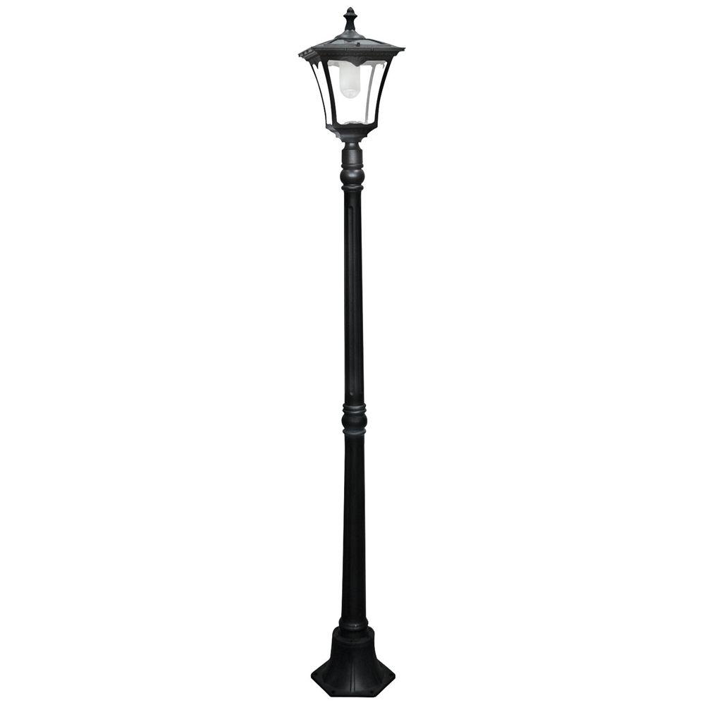 Garison 80 High Black Solar Led Street Light Style 1w943 Solar Lamp Post Outdoor Lamp Posts Solar Lights