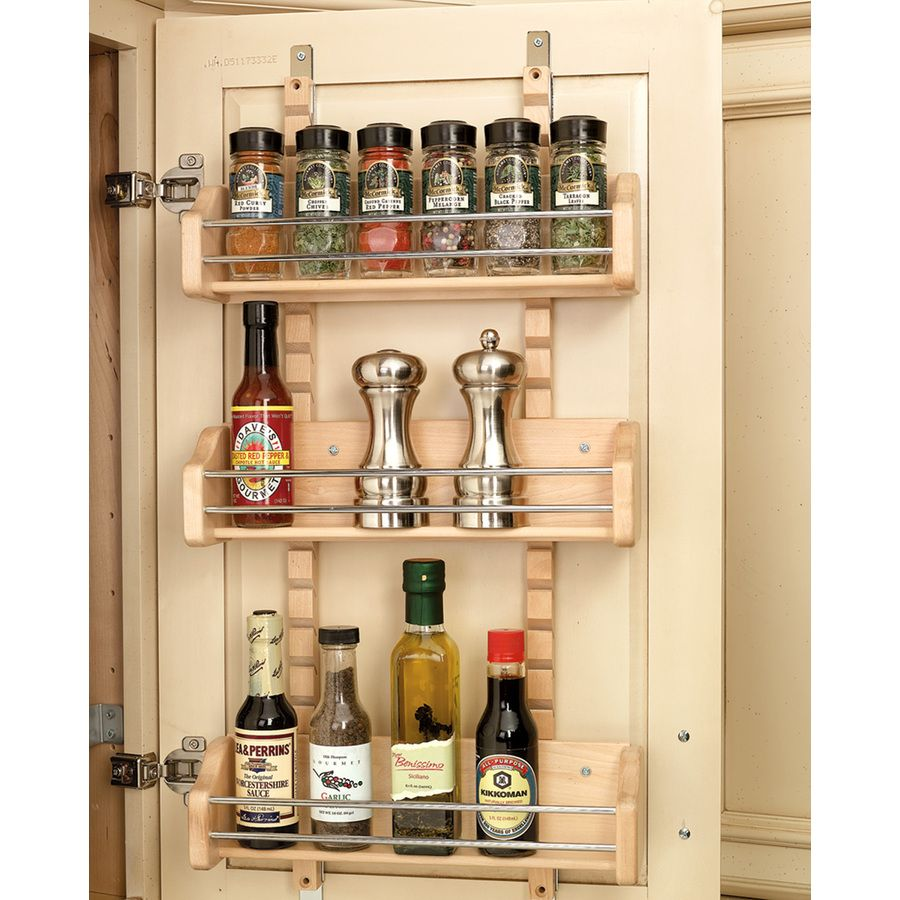 Lowes Spice Rack Unique Shop Revashelf 1Tier Wood Pull Out Cabinet Basket At Lowes 2018