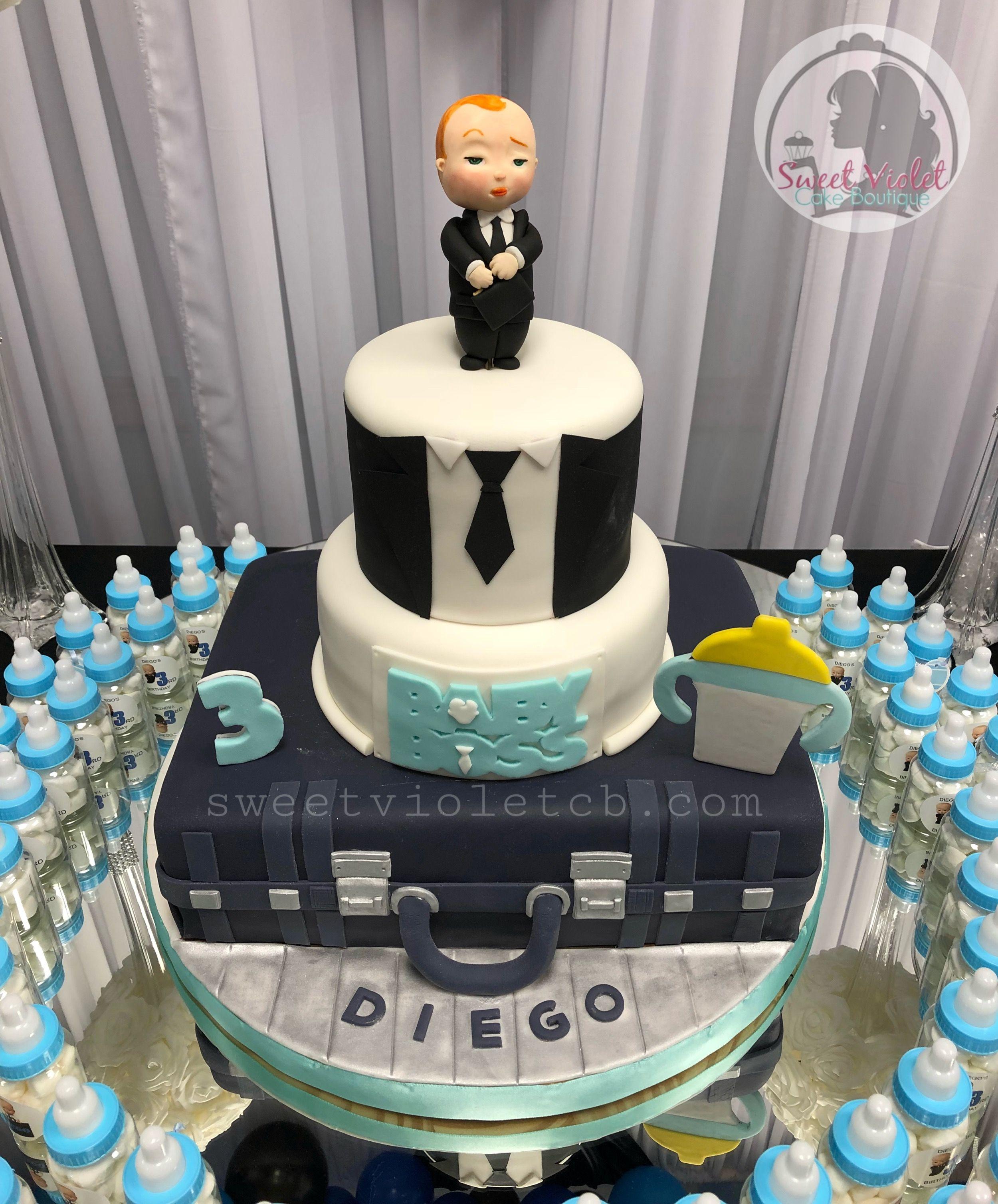 Boss Baby Cake Topper 3rd Birthday 3 Tier Cake Baby Cake