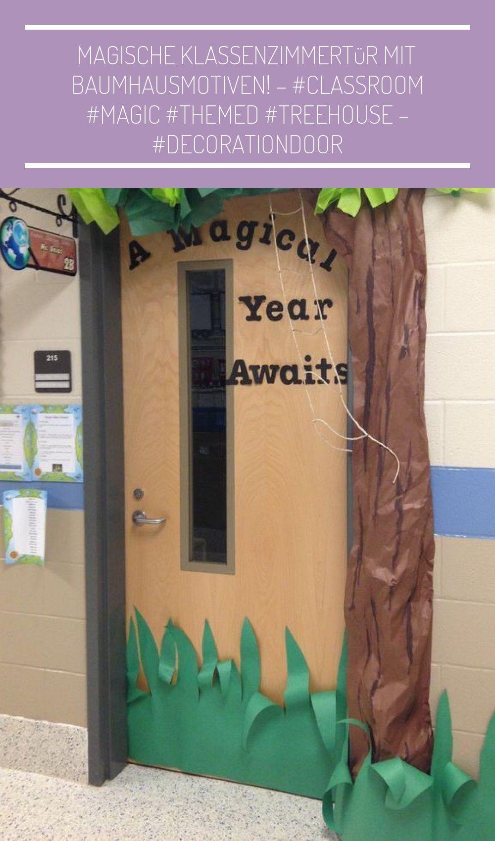 Magische Klassenzimmertür mit Baumhausmotiven! - - - - - bedroom theme Magische Klassenzimmertür
