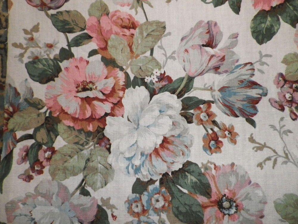 Vintage Sanderson Linen Union Interiors Fabric Panular