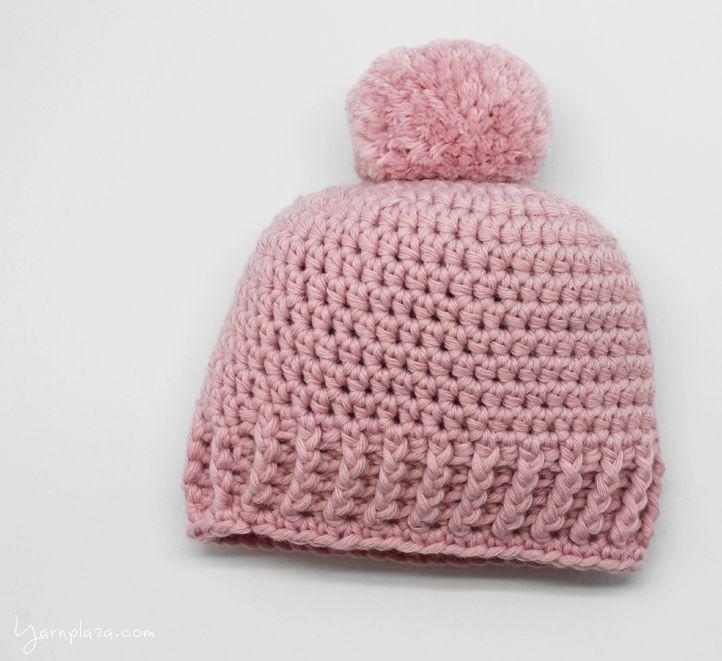 Crochet Baby Hat - Tutorial ❥ 4U hilariafina http://www.pinterest ...