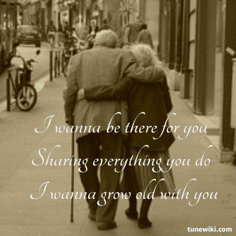 Lyricart For I Wanna Grow Old With You By Westlife Song Lyrics