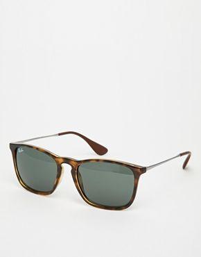 f0a4f7889e Gafas de sol estilo wayfarer con puente en forma de cerradura 0RB4187  710/7154 de Ray-Ban