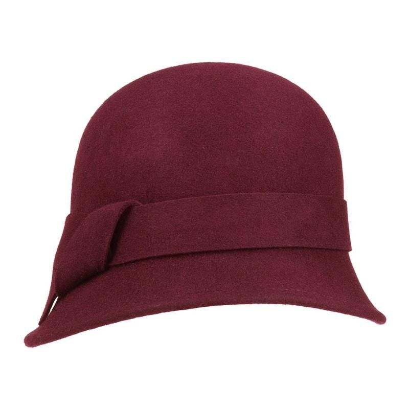 Sombrero mujer granate  1134973a2ca