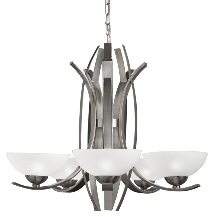 319 Portfolio 34421 5 Light Polished Nickel Chandelier At Lowe S Canada Find Our Selection Of Chandeliers The T Guaranteed With