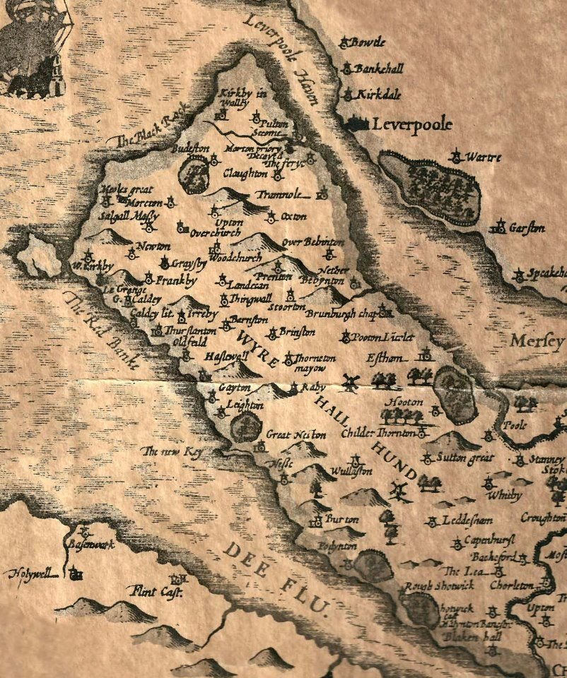 Wirral Map 1611 Walls Pinterest