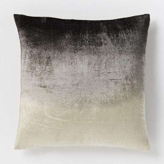 Ombre Velvet Pillow Cover Slate West Elm Velvet Pillows Bed Pillows Decorative Velvet Pillow Covers