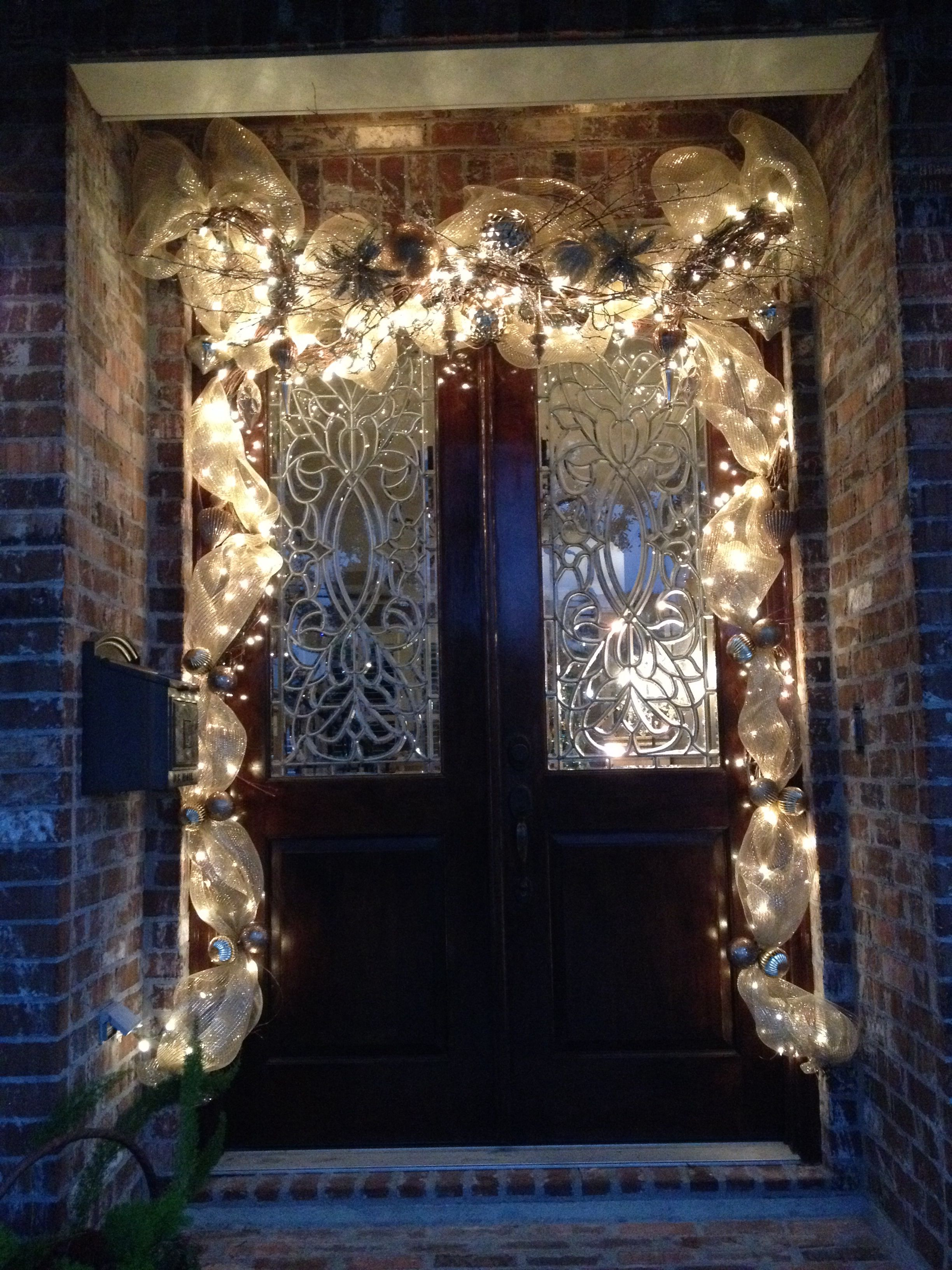 Christmas Door Grapevine Garland   Grapevine garland ... on Vine Decor Ideas  id=44472