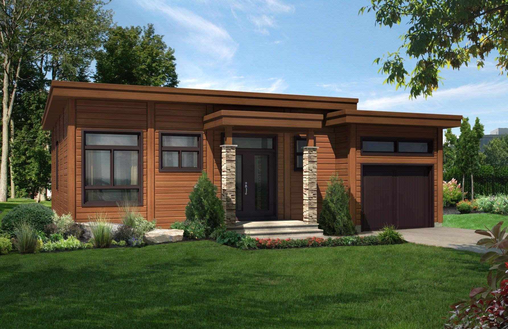 Fachadas de casas modernas de un piso buscar con google for Modelos de casas minimalistas de una planta