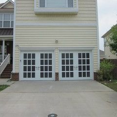 Gorgeous Garage Doors Styled To Look Like French Doors Beautiful Design To Add Curb Appeal Garage Door Styles Garage Doors Unique Garage Doors